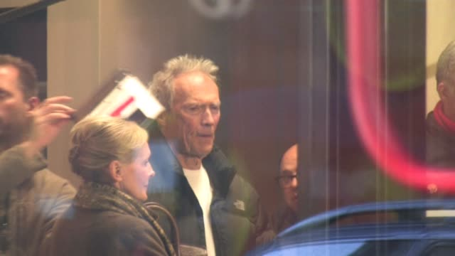 Clint Eastwood and Matt Daemon May Fair London at the Celebrity Video Sightings in London at London England