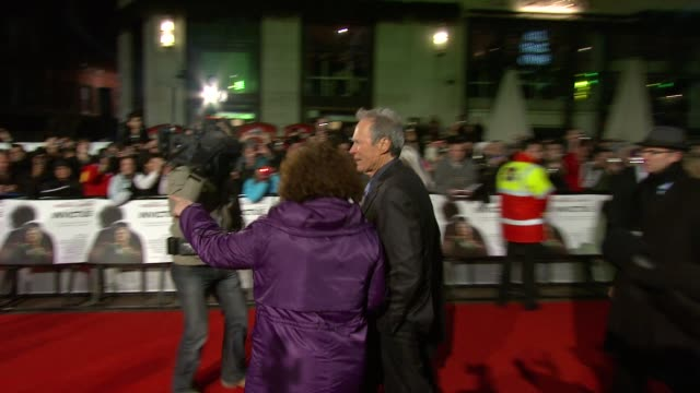 Clint Eastwood at the Invictus UK Premiere at London England