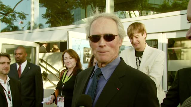 Clint Eastwood on receiving this award independence in filmmaking and receiving the award from Tony Bennett at the Spirit of Independence Award...