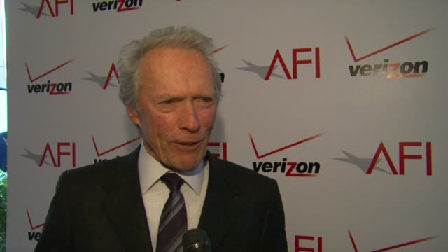 Clint Eastwood on the event and on Shirley MacLaine at AFI Awards 2012 Luncheon in Beverly Hills CA on 1/13/12
