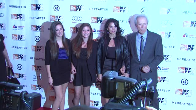 Clint Eastwood wife Dina Eastwood and guests at the 'Hereafter' 48th New York Film Festival Closing Night at New York NY