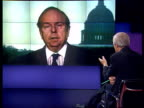 Clinton impeachment trial senators voting ITN Washington DC Bob Shrum interviewed SOT Republicans resented election of President Clinton / discusses...