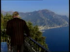 Clinton's 'State of the Nation' speech 2WAY Amalfi Ext Gore Vidal walks onto balcony of his home and Int interview SOT