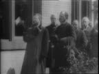Clip from the Thomas Edison's silent comedy 'The Barber Shop' / montage of old film clips President William McKinley speaking to a crowd President...