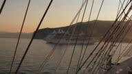 MS T/L Clipper ship moving in sea / Sorento, Campania, Italy