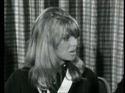 Part 1 TX Actress Julie Christie off TWA plane at London airport and interviewed inside airport on winning Oscar for her role in the film 'Darling'...