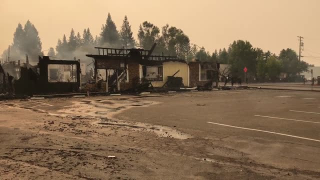 Clips from Santa Rosa California where fires are burning throughout the city Building and homes destroyed and damaged