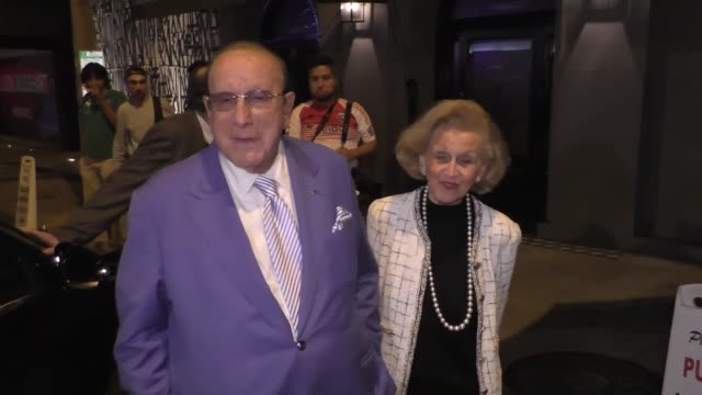 INTERVIEW Clive Davis Barbara Davis talk about his movie Clive Davis The Soundtrack Of Our Lives outside Craig's Restaurant in West Hollywood in...