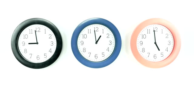 clock goes past, time lapse