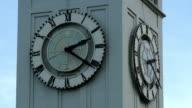 CU, Clock on ferry building tower, San Francisco, California, USA