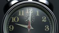 Clock ticking, slow motion-close up