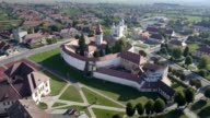 Clockwise flight around the fortified church in Prejmer