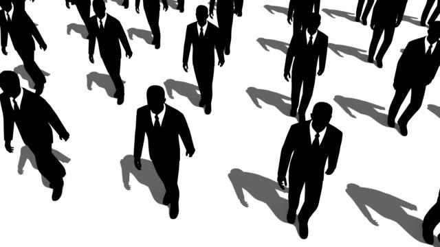 Bei dem geklonten Geschäftsleute gehen