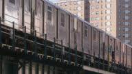 close angle of elevated train.