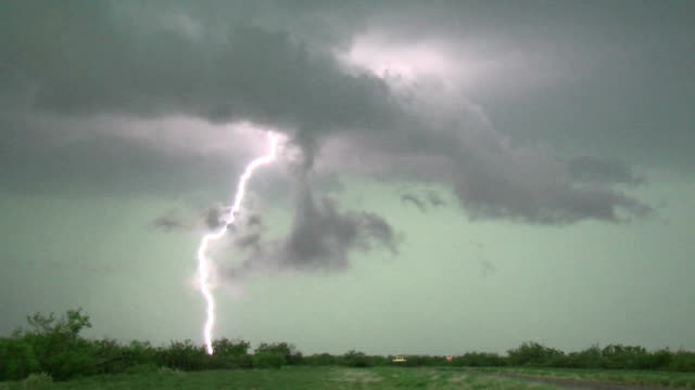 Close Lightning Strikes - Supercell Thunderstorm