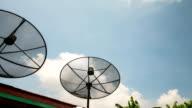 Close to the satellite dish.