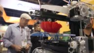 Close Up 3D printer on display General views of the 2014 International Consumer Electronics Show in Las Vegas Nevada CES the world's largest annual...