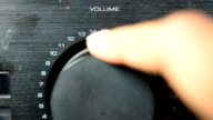 Primo piano: amplificatore bottoni