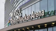 Close Up arena logo and signage General Views of the Wirsol Rhein Neckar Arena prior to the Bundesliga match between 1899 Hoffenheim and Werder...
