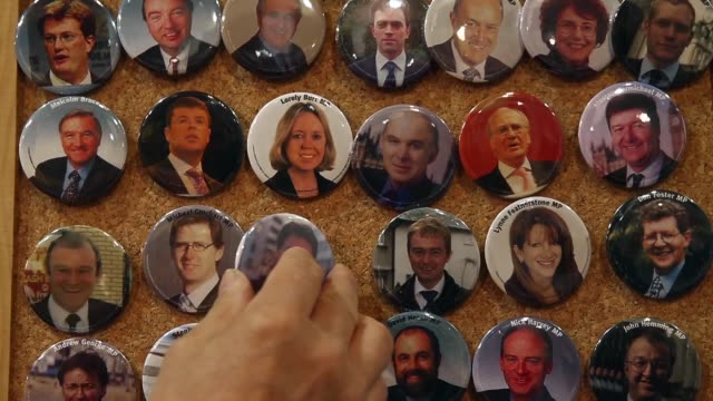 Close Up badges with prominent LibDem figures including the current leader and Deputy Prime Minister Nick Clegg The Liberal Democrat Autumn...