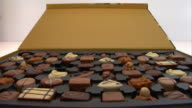 Close up box of chocolates