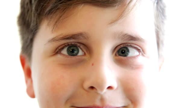 Close up, Boy Crossing Eyes making face
