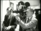 B/W close up cameraman and soundman / 1960's / SOUND