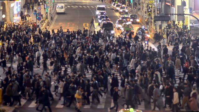close up : City Pedestrian Traffic Time in  Shibuya