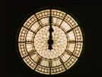 close up clock on Big Ben at night / London