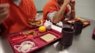 Close Up detainees eat lunch The facility the largest and newest Immigration and Customs Enforcement detention center in California houses an average...