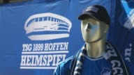 Close Up fan articles of the TSG 1899 Hoffenheim are seen in front of the Wirsol RheinNeckar Arena prior to the Bundesliga match between TSG 1899...