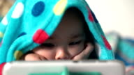 close up girls playing the iPad