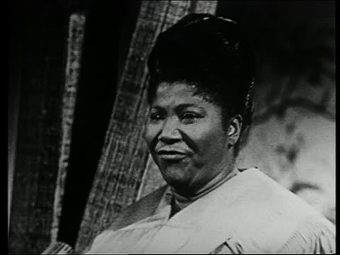 1963 close up Mahalia Jackson singing gospel song