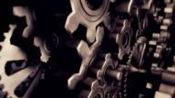 Close Up Metal Gears (looping)
