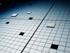 Close up of a Grid and Rising Squares
