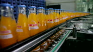 Close up of bottling line in beverage industry /Xi'an, Shaanxi, China