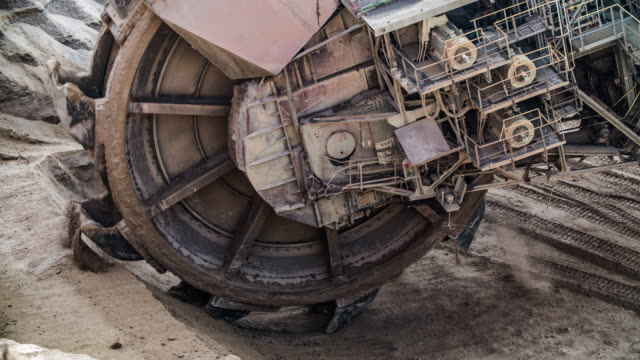 Close up of coal mining