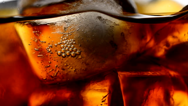 Close up of Cola bubbles