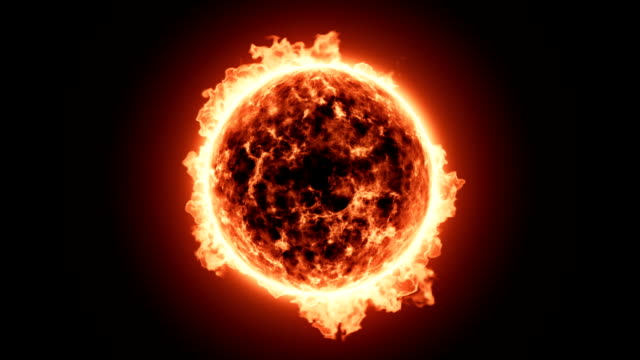 Close up of Fiery sun