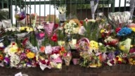 Close up of flowers near the scene where Drummer Lee Rigby of the 2nd Battalion the Royal Regiment of Fusiliers was killed on May 24 2013 in London...