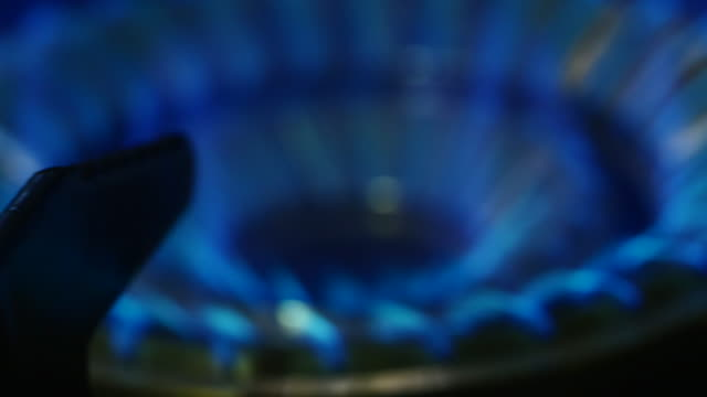 Close up of Gas Stove Flames