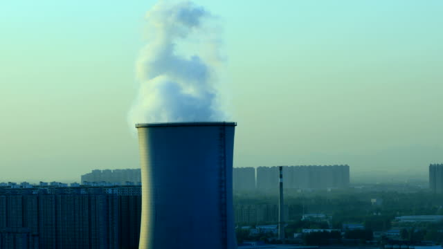 Close up of industrial chimney