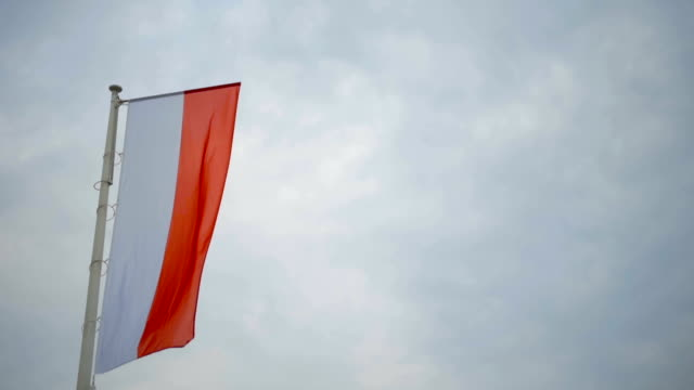 Close up of Polish Flag National Symbol of Poland
