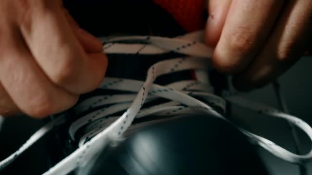 Close up of shoelace 4k