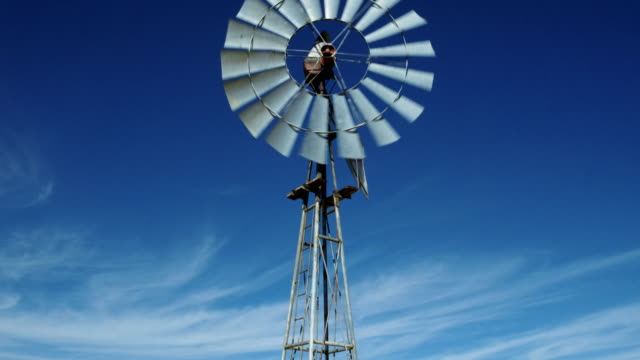 Close up of spinning windmill