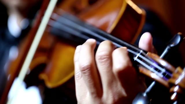 Nahaufnahme von Geige cello Spieler: VDO HD -