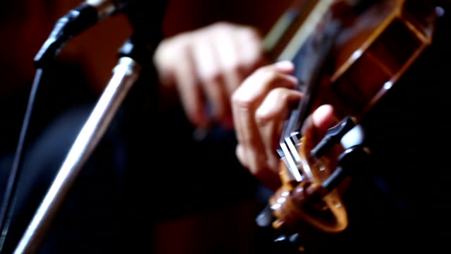 Close up of Violin cello players : HD VDO