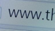 Close up of www address bar cursor blinking