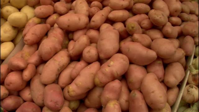 Close up pan vegetables in market/ Jerusalem