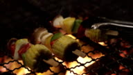 Close up party of Grilling Delicious Sweet Corn